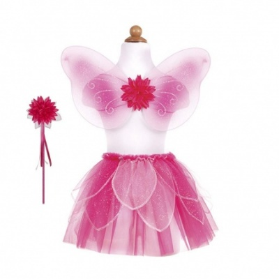 Great Pretenders Fancy Flutter Skirt With Wings and Wand - Pink